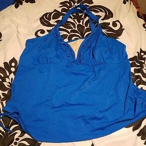 Blue swim suit top